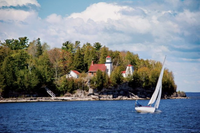 Sherwood Point Lighthouse near Sturgeon Bay
